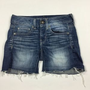 American Eagle Stretch Jean Shorts Womens Size 00